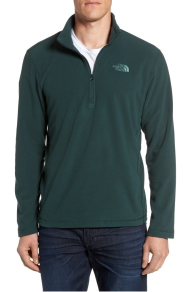 The North Face 'tka 100 Glacier' Quarter Zip Fleece Pullover In Darkest Spruce