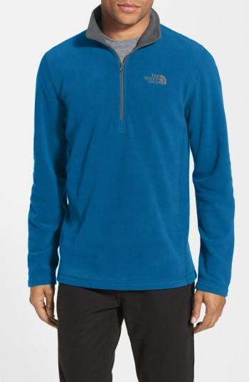 The North Face 'tka 100 Glacier' Quarter Zip Fleece Pullover In Brilliant Blue