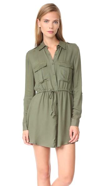 Bb Dakota Casey Dress In Light Olive