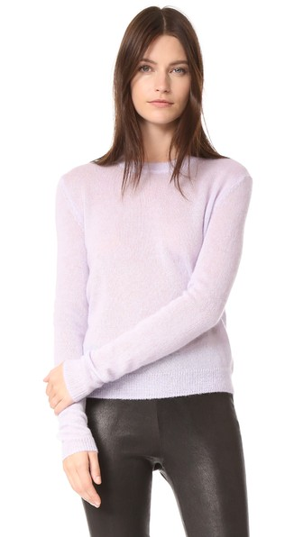 Elizabeth And James Rosalie Tomboy Slouchy Sweater In Lilac