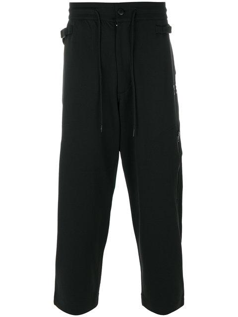 Y-3 Drawstring Track Pants In Black