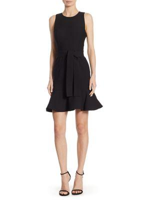 Cinq À Sept Flared Sleeveless Dress In Black