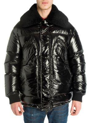 772fef7a7613e6 Dsquared2 Black Down Shiny Puffer Jacket | ModeSens