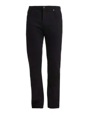 7 For All Mankind Slim Straight Fit Jeans In Annex Black