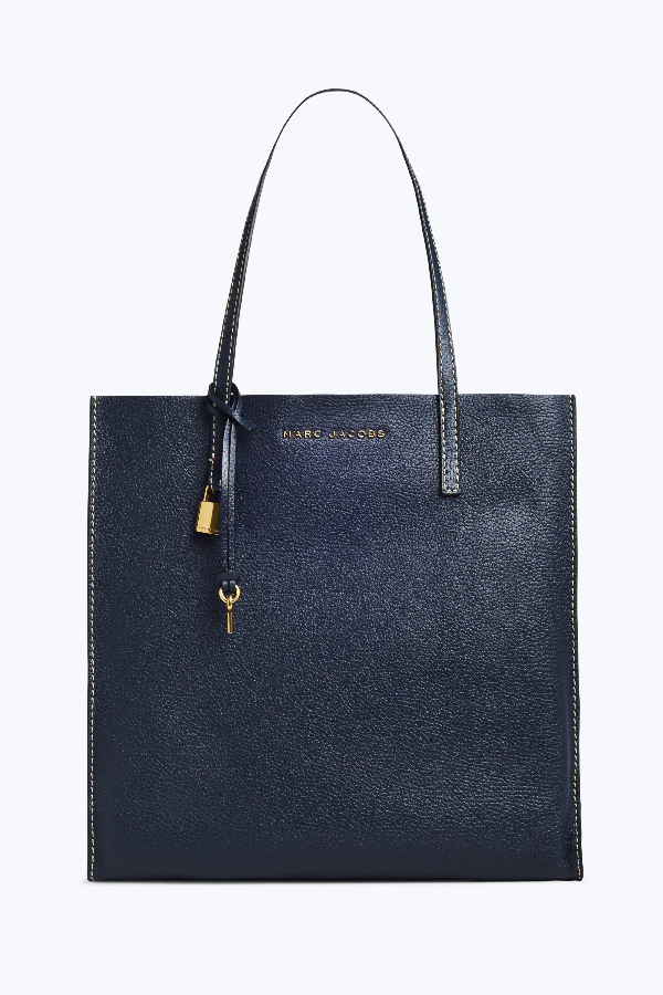 Marc Jacobs The Grind East/West Leather Shopper - Blue In Blue Sea