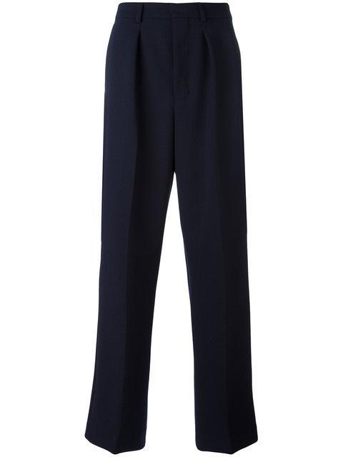Ami Alexandre Mattiussi Box Pleated Wide Trousers