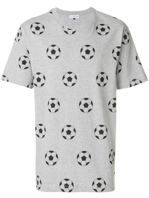 Gosha Rubchinskiy Football Print T-shirt In Grigio-nero