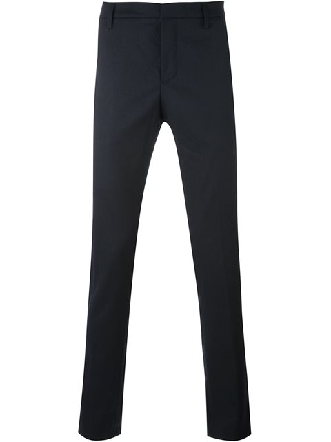 Dondup Straight Fit Trousers In Blue