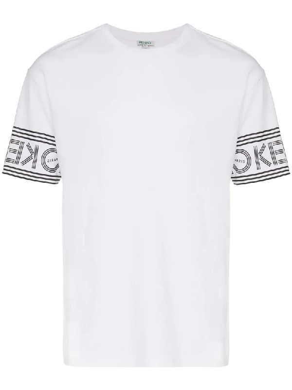 98a32c01 Kenzo Logo Printed Cotton Jersey T-Shirt In 01 White | ModeSens
