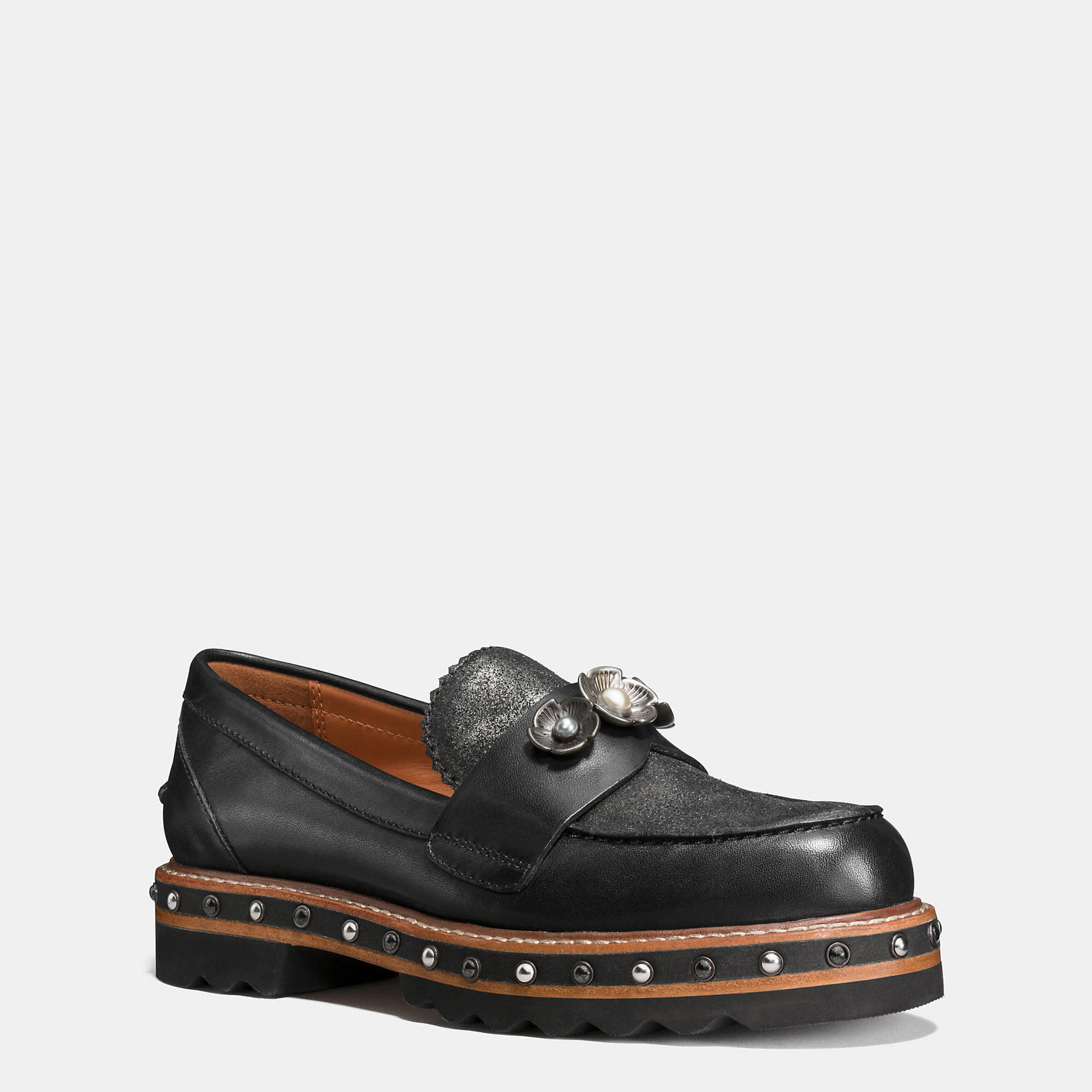 Coach Lenox Loafer - Women's In Black/anthracite