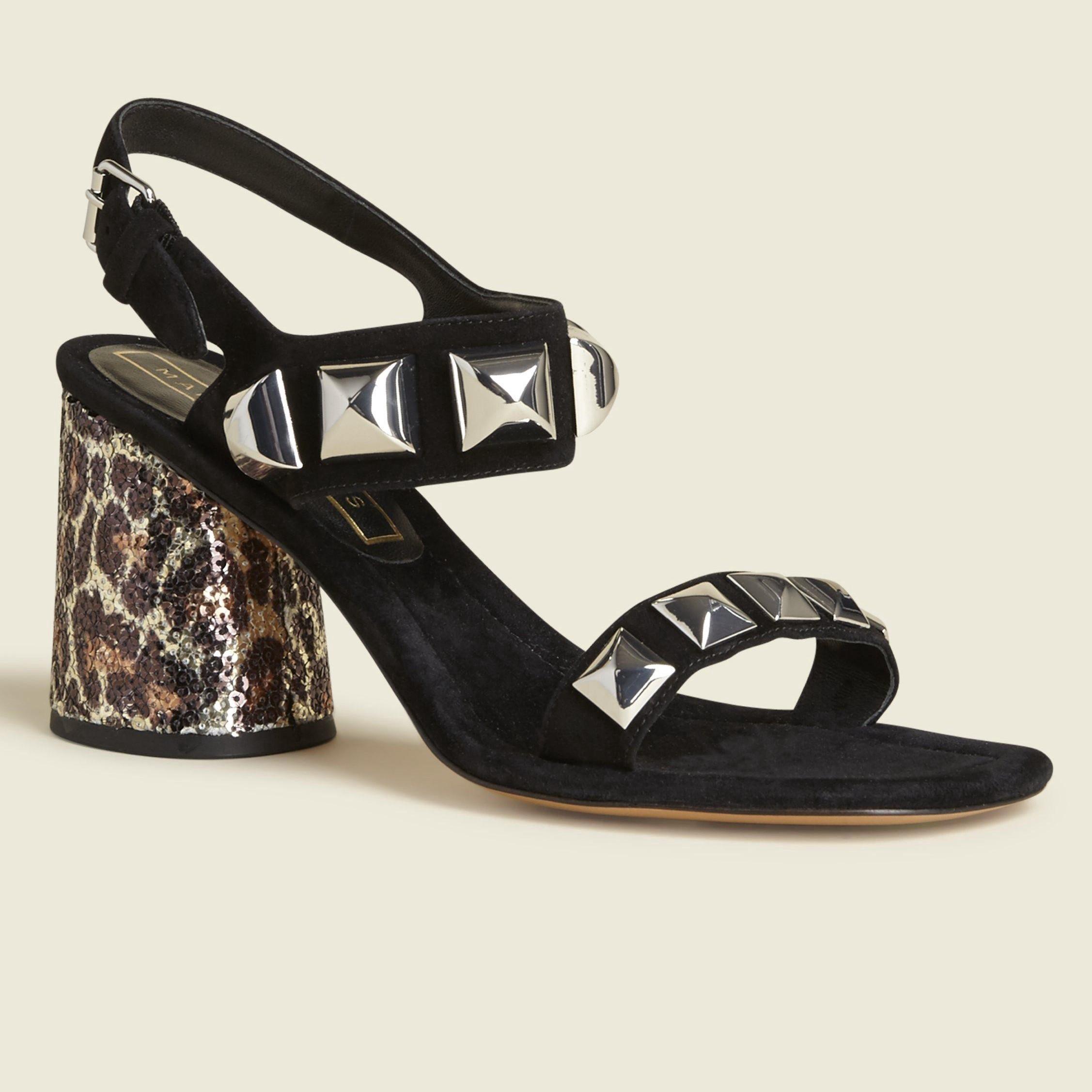 Marc Jacobs Emilie Studded Strap Sandal In Black Leather