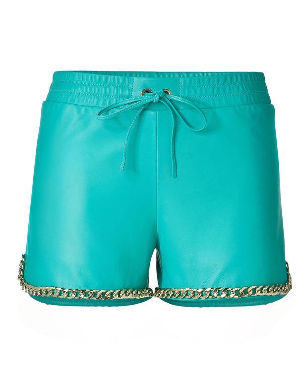"""Philipp Plein Leather Shorts """"karin"""""""