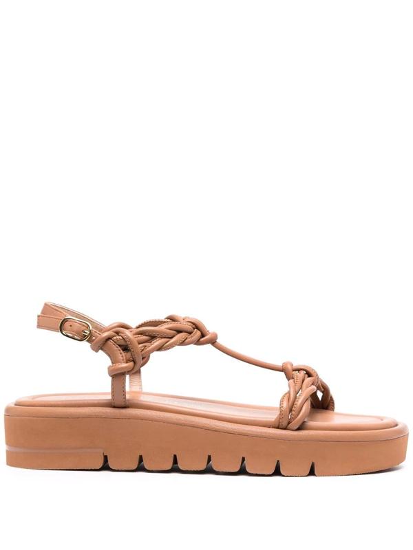 Stuart Weitzman Calypso Lift Sandal Trending: Platforms In Braun