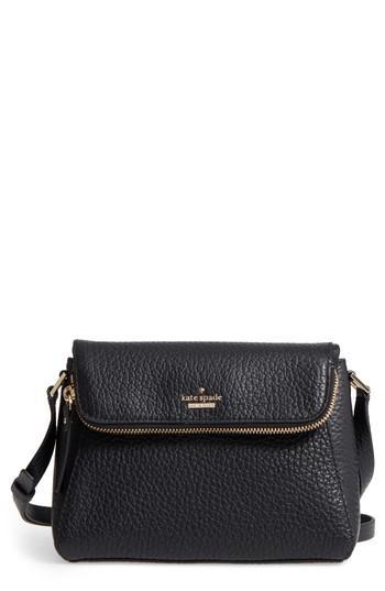 Kate Spade Carter Street - Berrin Leather Crossbody Bag - Black In Plum