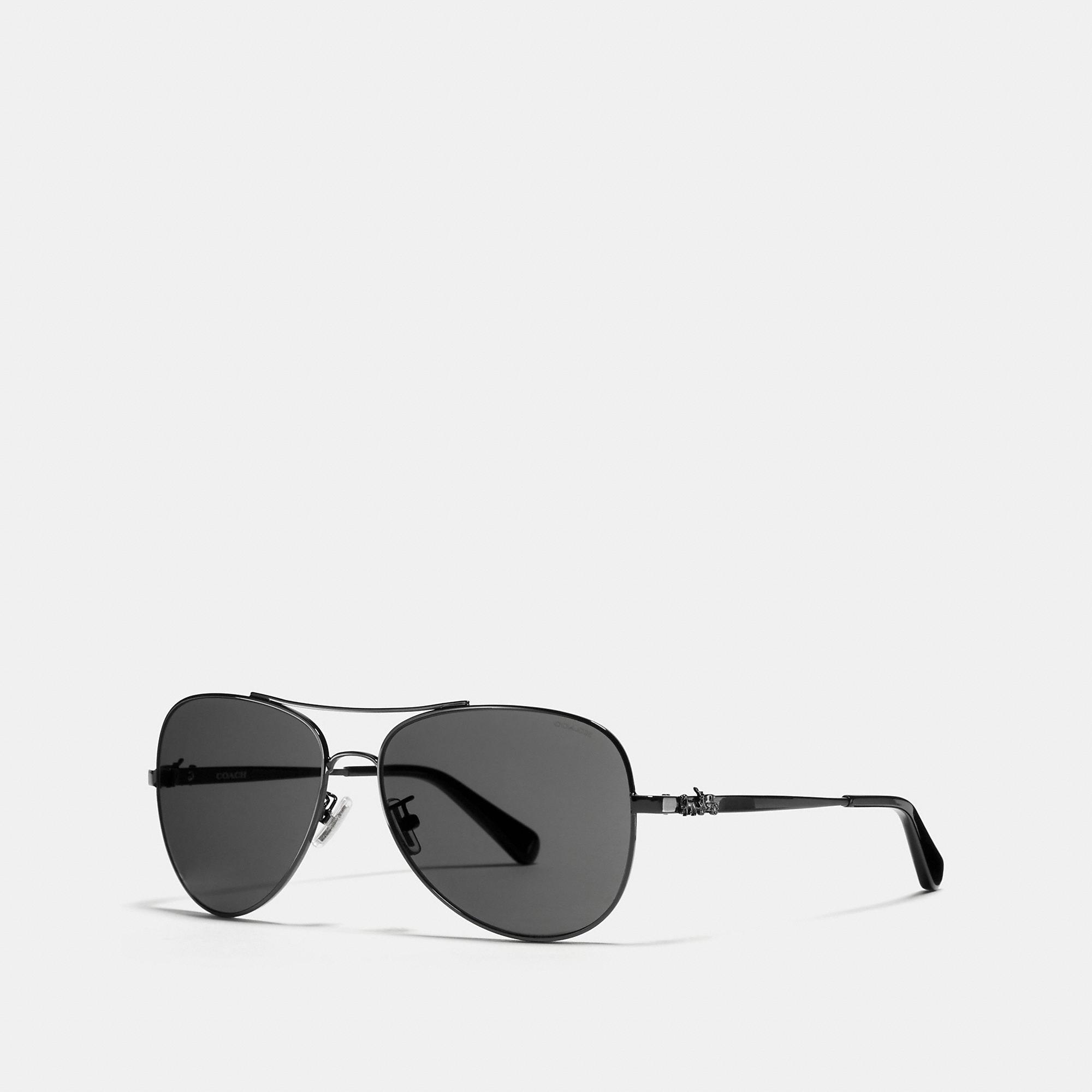 07a017b4bd4b5 Coach Horse And Carriage Metal Pilot Sunglasses - Women s In ...