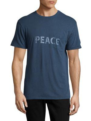 Zadig & Voltaire Peace Crewneck Tee In Blue