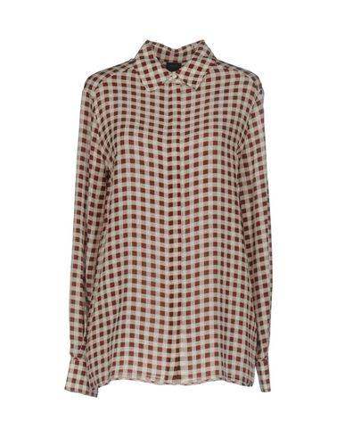 Pinko Checked Shirt In Brown