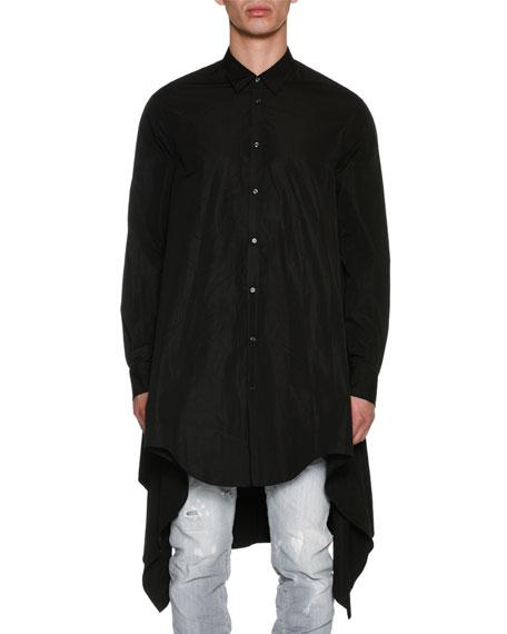Dsquared2 Oversized Long-sleeve Cotton Shirt In Black