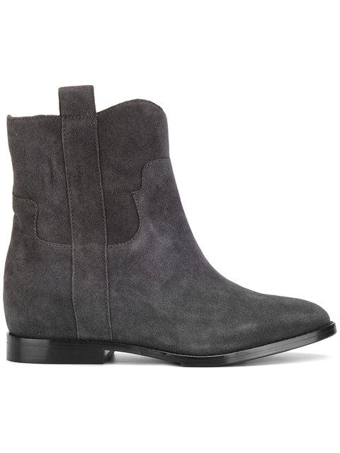 Ash Jane Ankle Boots In Black Suede