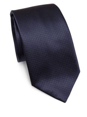 Ermenegildo Zegna Square Silk Tie In Blue