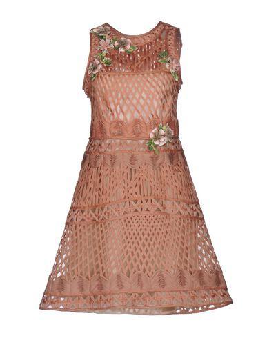 Alberta Ferretti Short Dresses In Camel