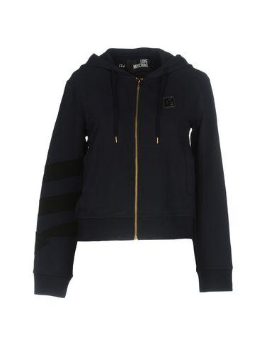 Love Moschino Hooded Sweatshirt In Dark Blue