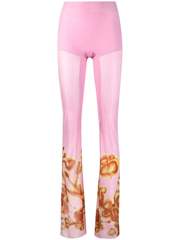 Charlotte Knowles Pink Halcyon Leggings In Amber Floral