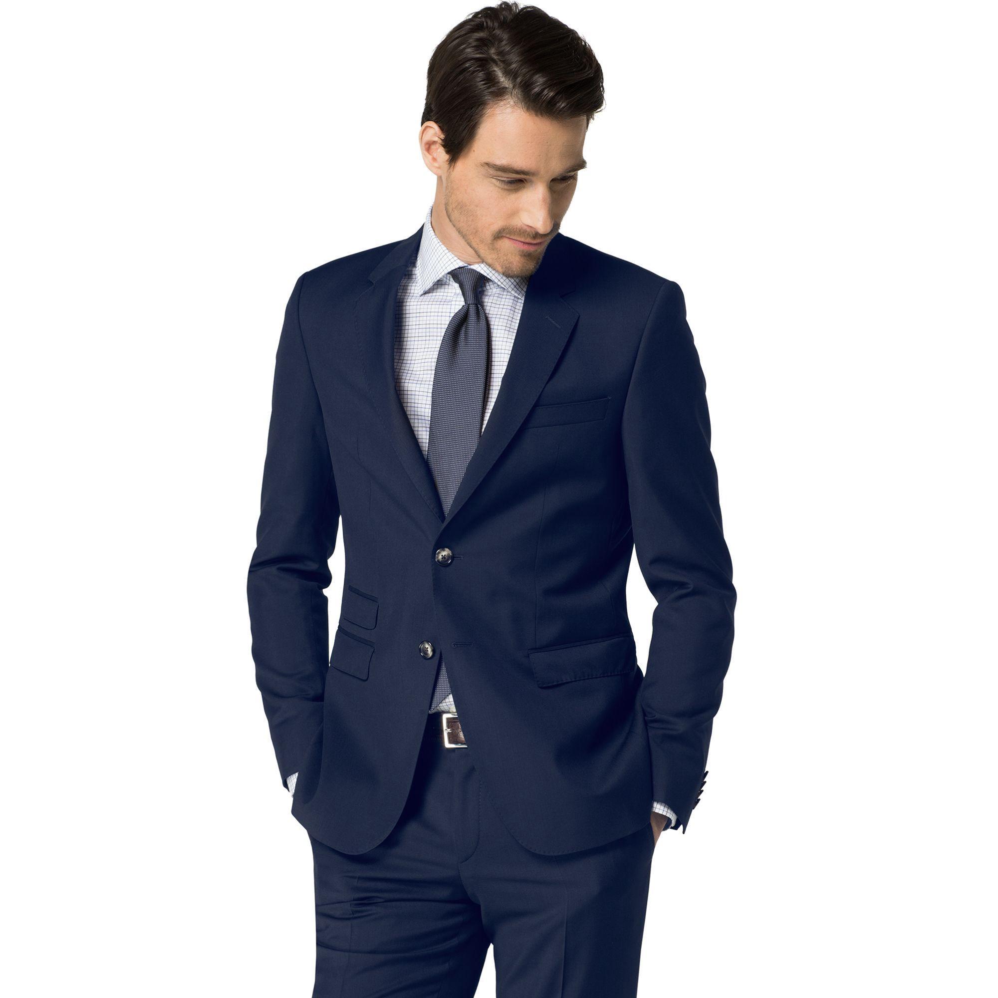 Tailored Collection Virgin Wool Blazer Navy