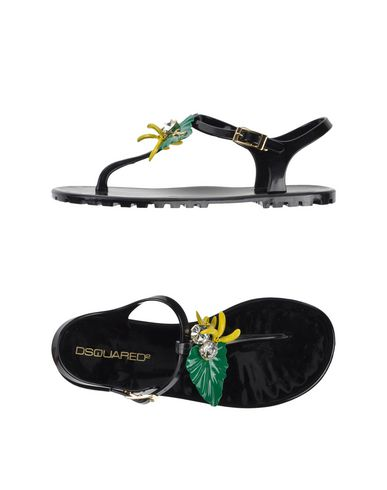 Dsquared2 Flip Flops & Clog Sandals In Black