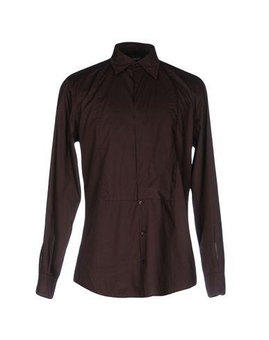 Dolce & Gabbana Solid Color Shirt In Dark Brown