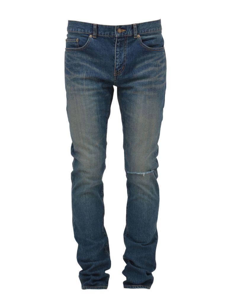 Saint Laurent Skinny Jean In Light Blue