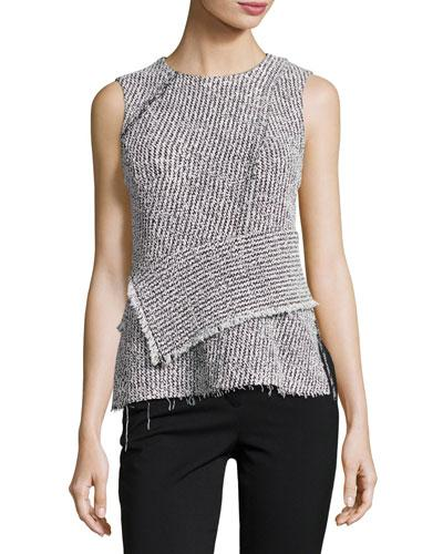 3.1 Phillip Lim Antique White/black Wrap Waist Top
