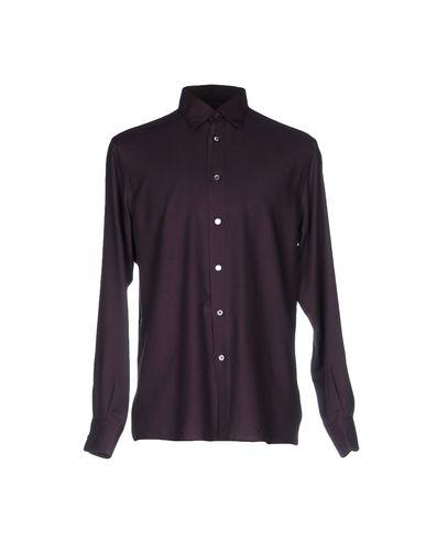 Ermenegildo Zegna Solid Color Shirt In Deep Purple