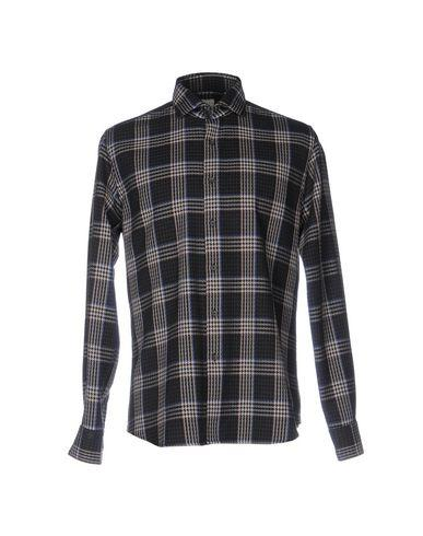 Xacus Checked Shirt In Steel Grey