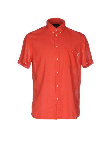Paul Smith Solid Color Shirt In Rust