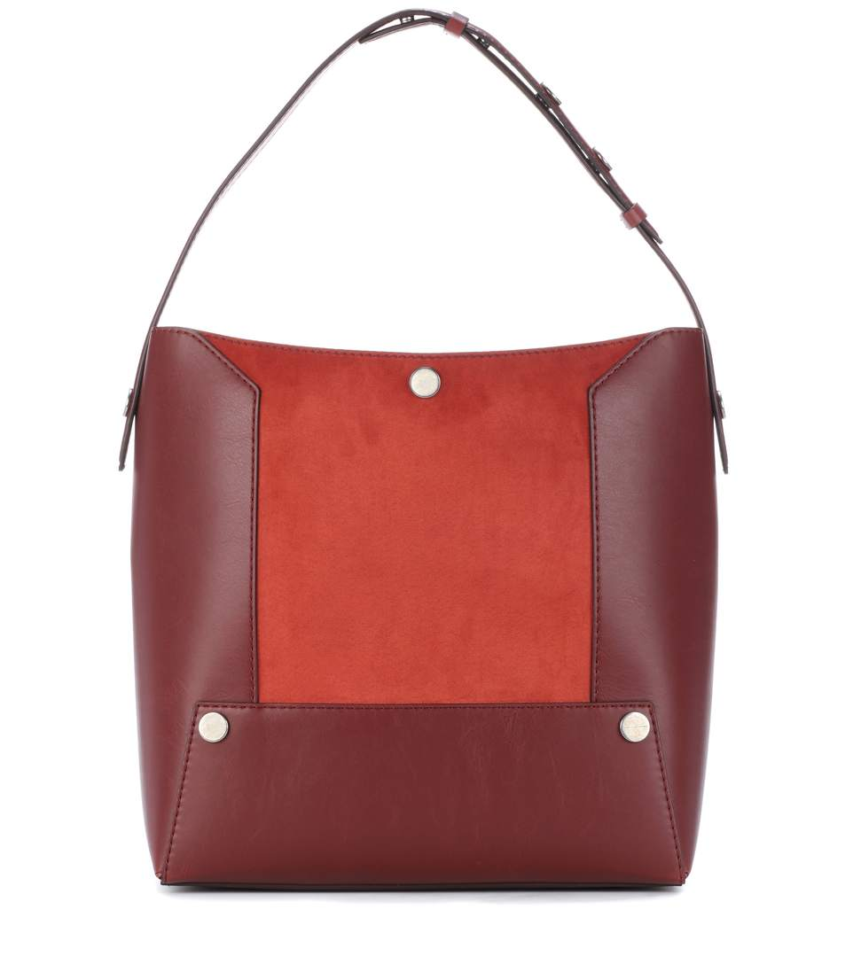 Stella Mccartney Alter Suede Small Hobo Bag In Heeea