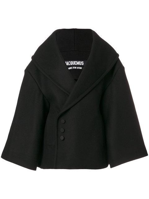 Jacquemus Black 'le Caban' Short Coat