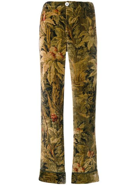F.r.s For Restless Sleepers Antique Floral Print Trousers In Multi