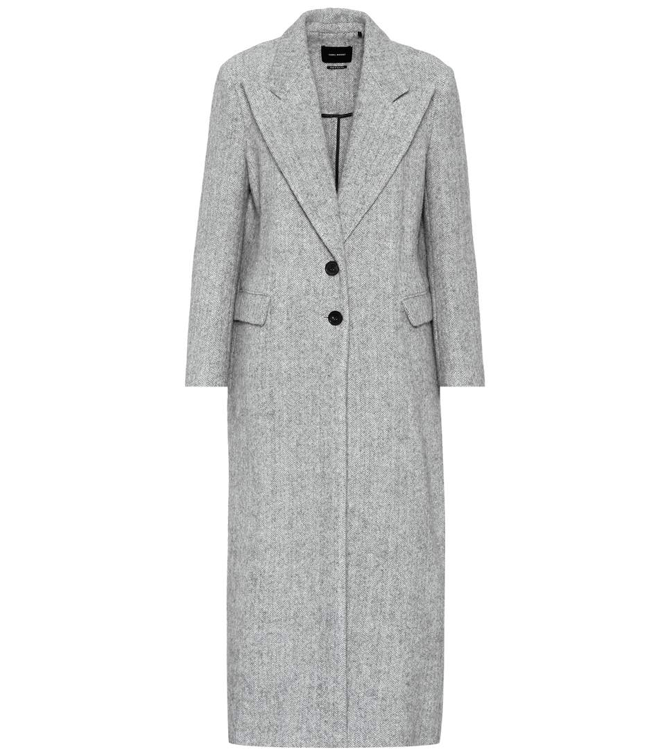 Isabel Marant Euart Wool And Alpaca Coat In Light Grey