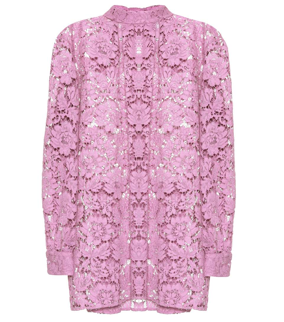 Valentino Lace Shirt In Pink