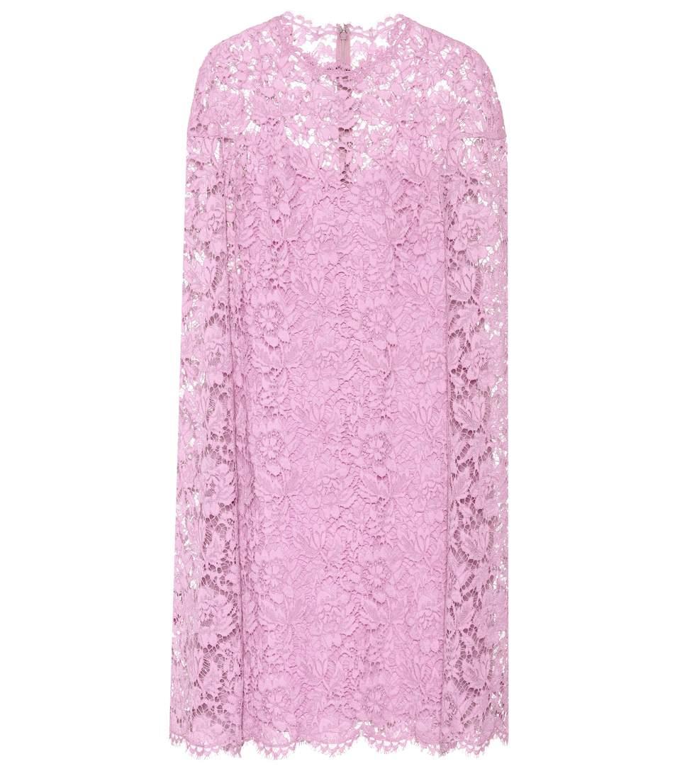 Valentino Lace Minidress In Piek