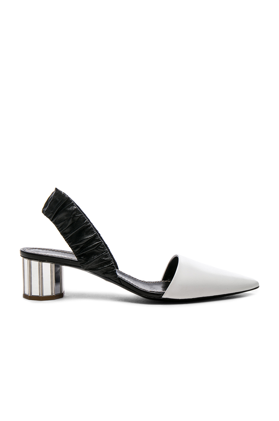 0a614822c75 Proenza Schouler Metallic Textured-Leather Pumps In White
