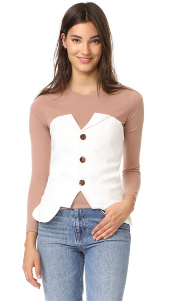Laveer Buster Top In Cream