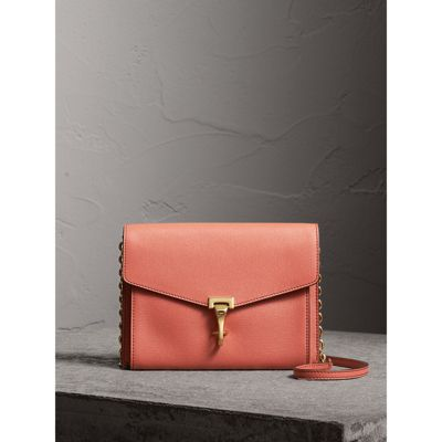 Burberry Small Leather Crossbody Bag In Cinnamon Red