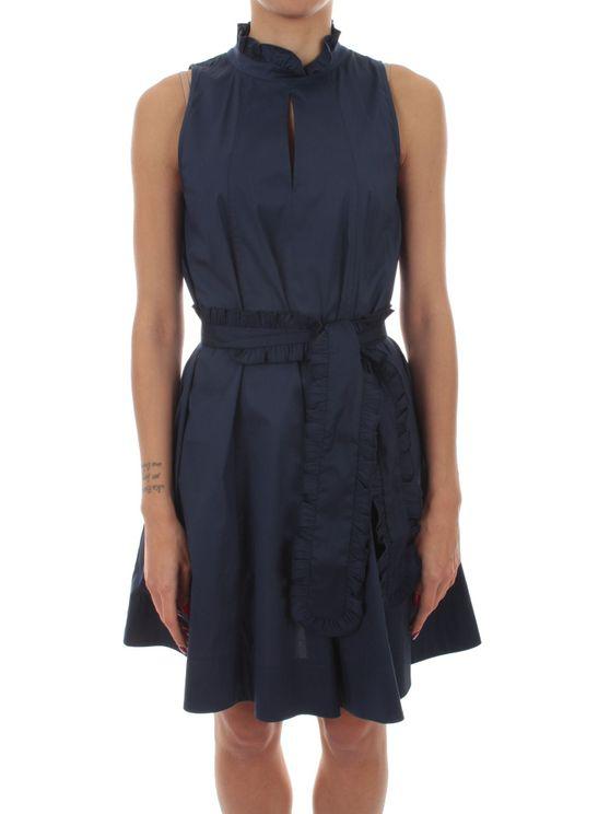 Iblues Women's 722105120008 Blue Cotton Dress