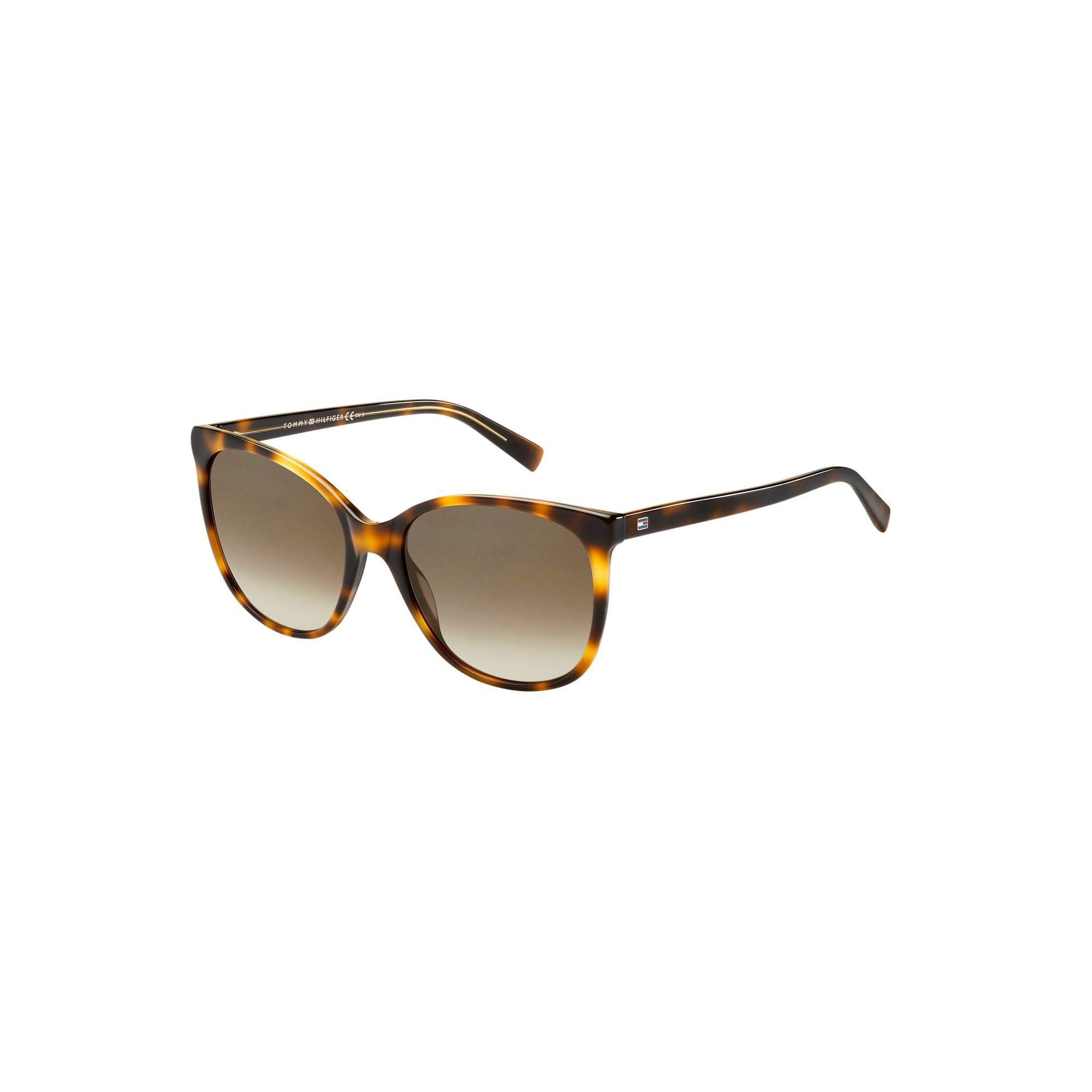 Tommy Hilfiger Oval Sunglasses - Havana Yellow