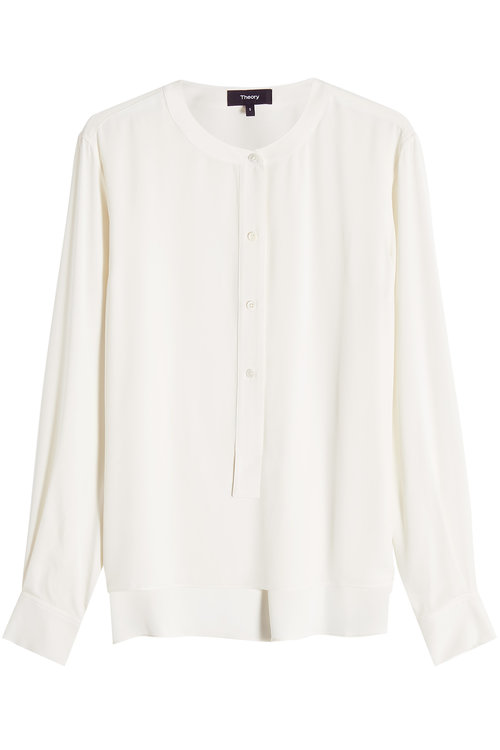 Theory Silk Blouse In White