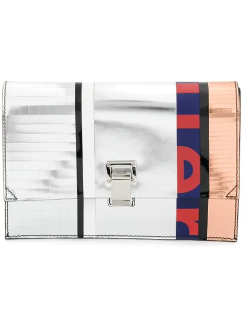 Proenza Schouler 'small Lunch Bag' In Colourblock Metallic Leather Patchwork
