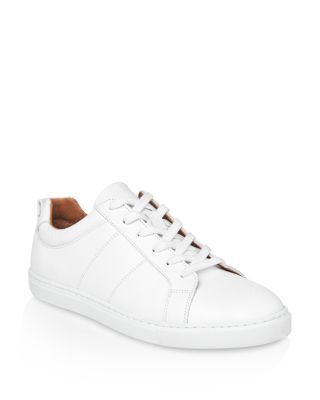 Whistles Koki Lizard-embossed Leather Low-top Sneakers In White