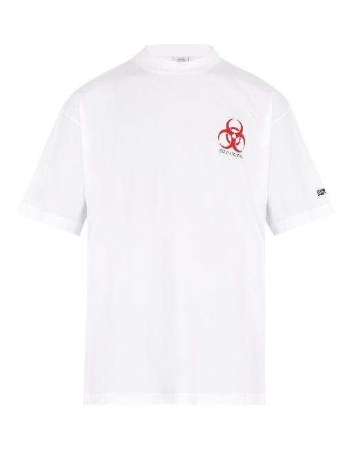 Vetements Genetically Modified Cotton T-shirt In White